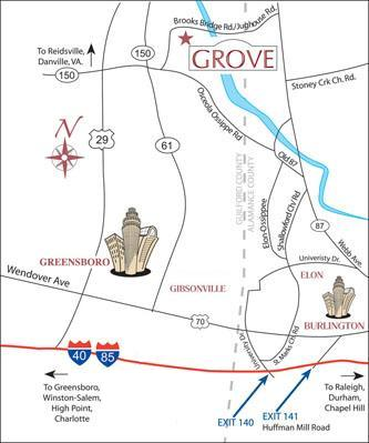 Grove Winery Location Map